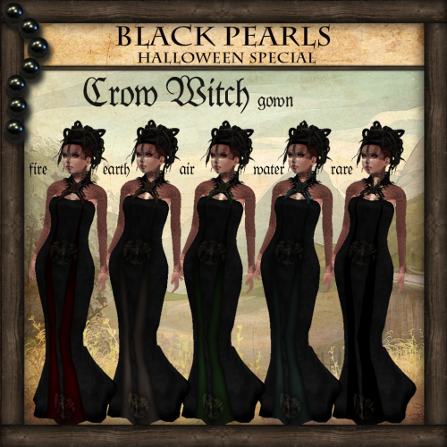 [BlackPearls] - Crow Witch Gown